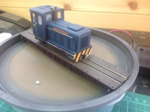 009 shunter using Graham Farish Class 14 chassis and Knightwing 0-4-0 shunter kit