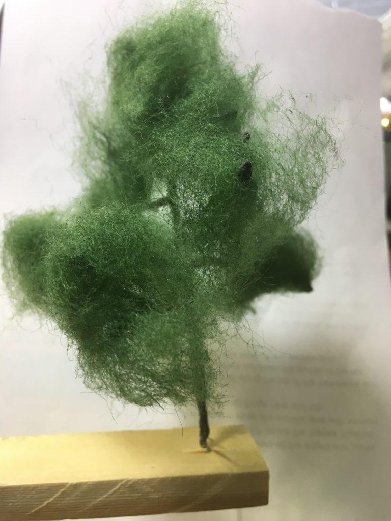Armature coated with fibre on super glue