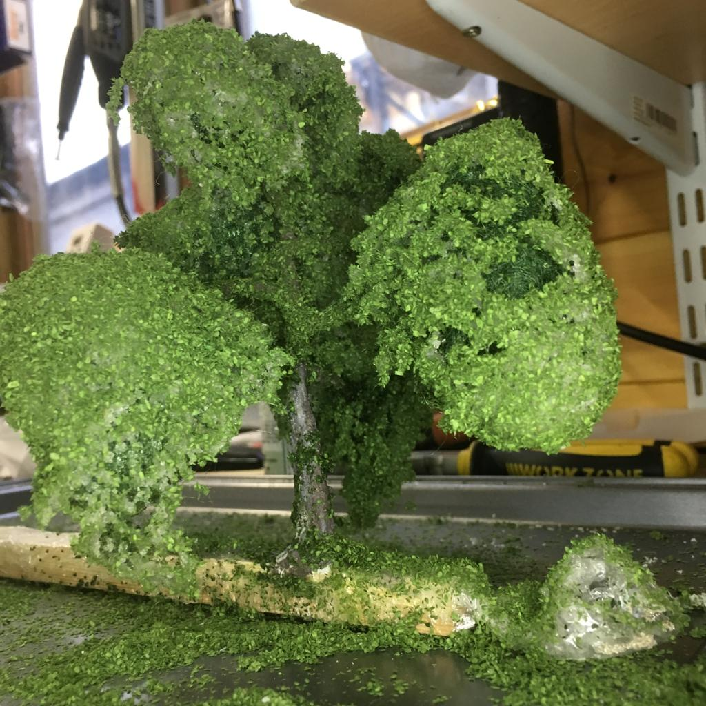 The finished tree drying
