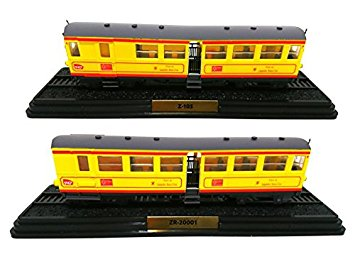 L'Automotrice du Train Jaune Z-105 + 2 Remorques (ZR-20001 and ZR-20033) - 1909