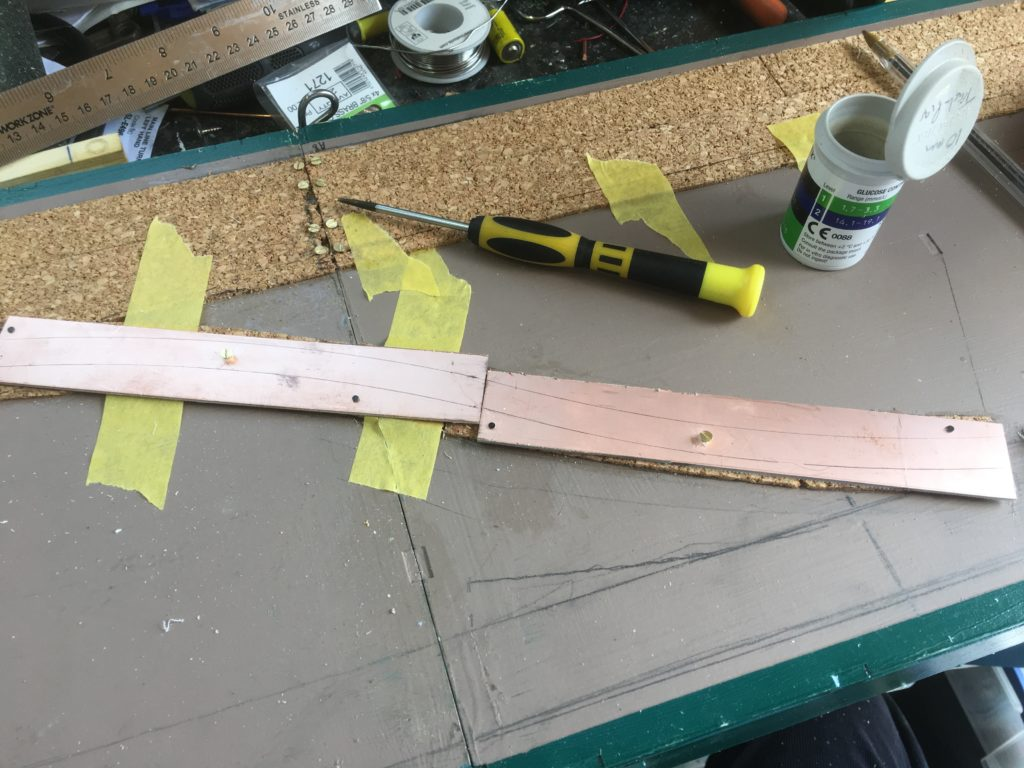 copper clad board for the embedded track
