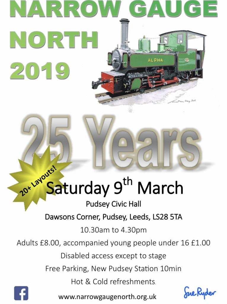 Narrow Gauge North 2019 Pudsey 9th March 2019