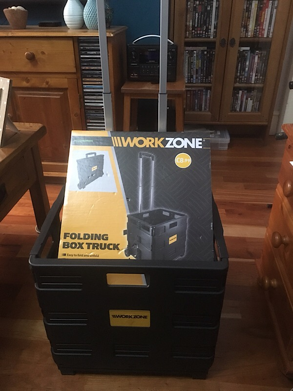 Aldi Workzone folding box truck