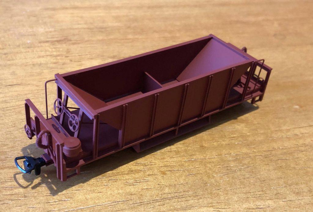 Scratch-built 10 tonne H0e hopper by Leigh Hulatt