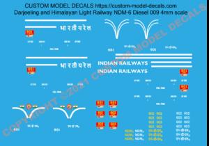 Custom Model Decals Darjeeling Himalayan Light Railway 4mm decals